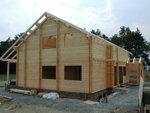Srubové domy, chaty, dřevostavby  - zateplení - detail
